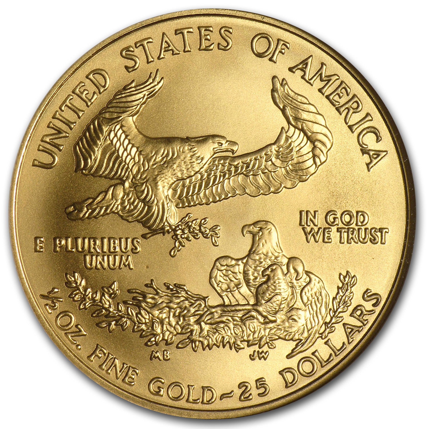 2006-W 1/2 oz Burnished Gold American Eagle MS-70 NGC (ER)